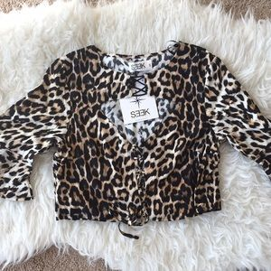 LF STORES! NWT ! SEEK THE LABEL LEOPARD TOP